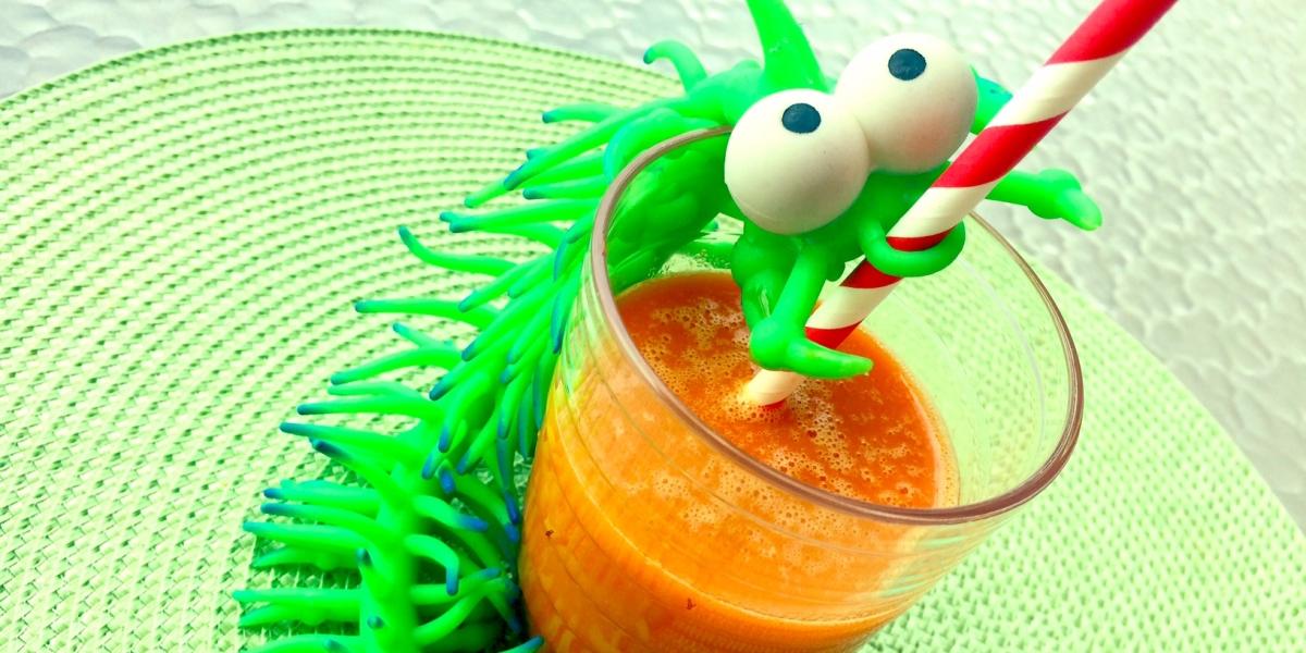 Suco de laranja, manga, cenoura e gengibre