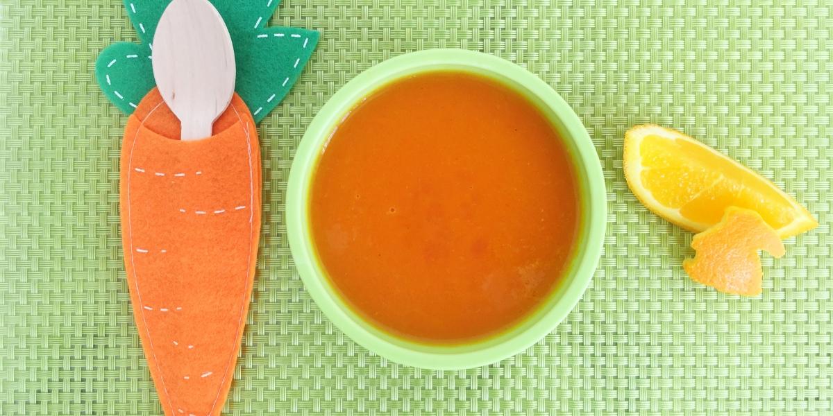 Sopa de cenoura com laranja