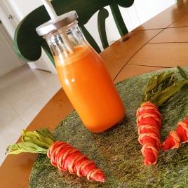 Vitamina de cenoura com iogurte