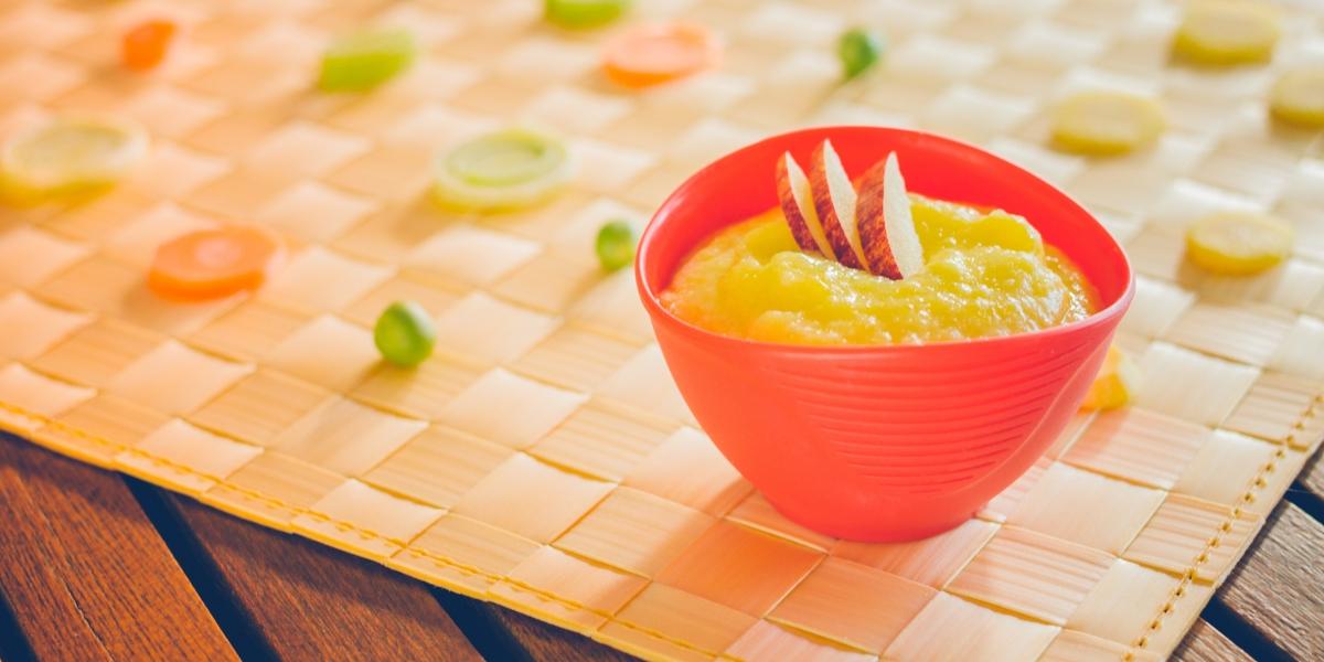 Sopa de mandioquinha com maçã